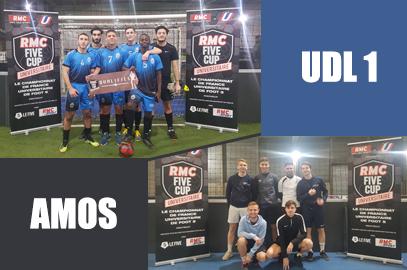 UDL1 et AMOS finalistes au RMC FIVE CUP à Lyon !