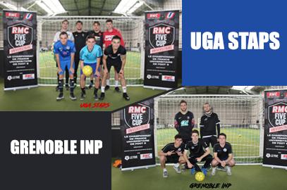 UGA STAPS et Grenoble INP finalistes au RMC FIVE CUP de Grenoble !