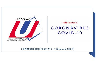 COVID-19 / Communiqué FFSU – Annulation de toutes les compétitions nationales universitaires pour la saison 2019-2020