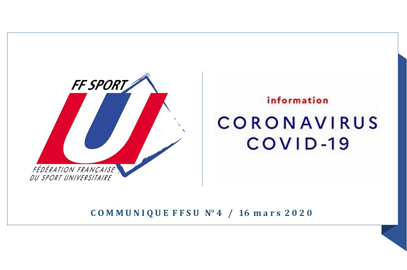 COVID-19 / Communiqué FFSU
