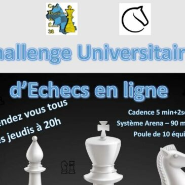 Challenge U d'Échecs en ligne